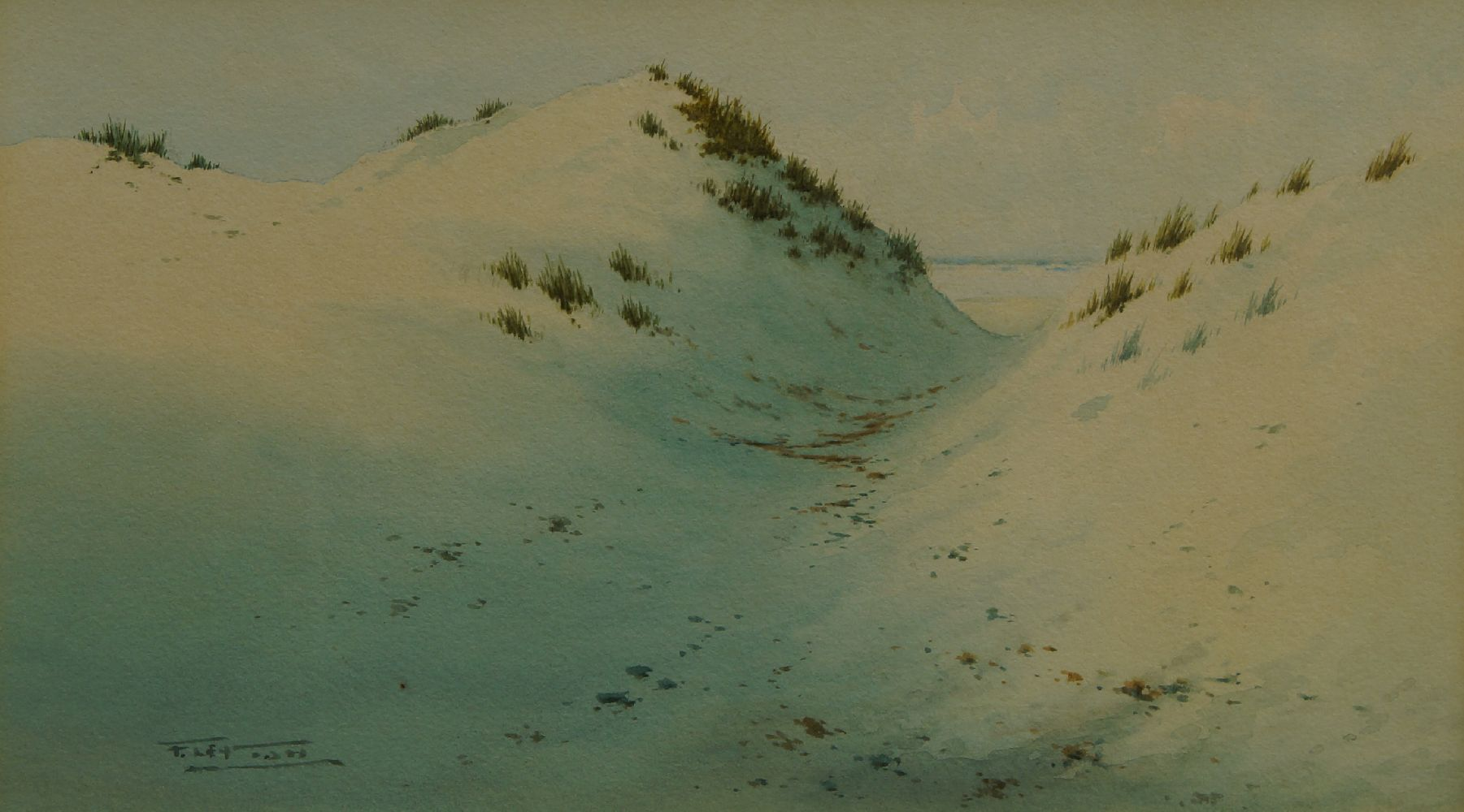 John Heaton, British act. 1884-1890- Newquay; watercolour, signed and titled, 26x42cm, Provenance: - Image 3 of 3