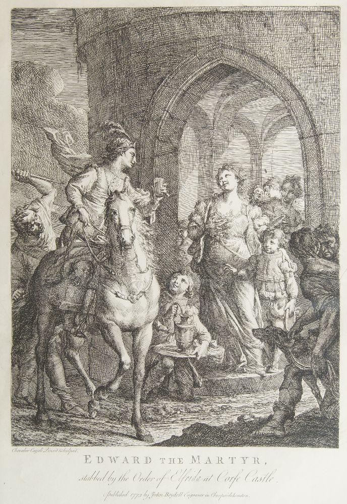 Andrea Cazali, Italian 1705-1784- Edward the Martyr, stabbed by the Order of Elfrida at Corfe