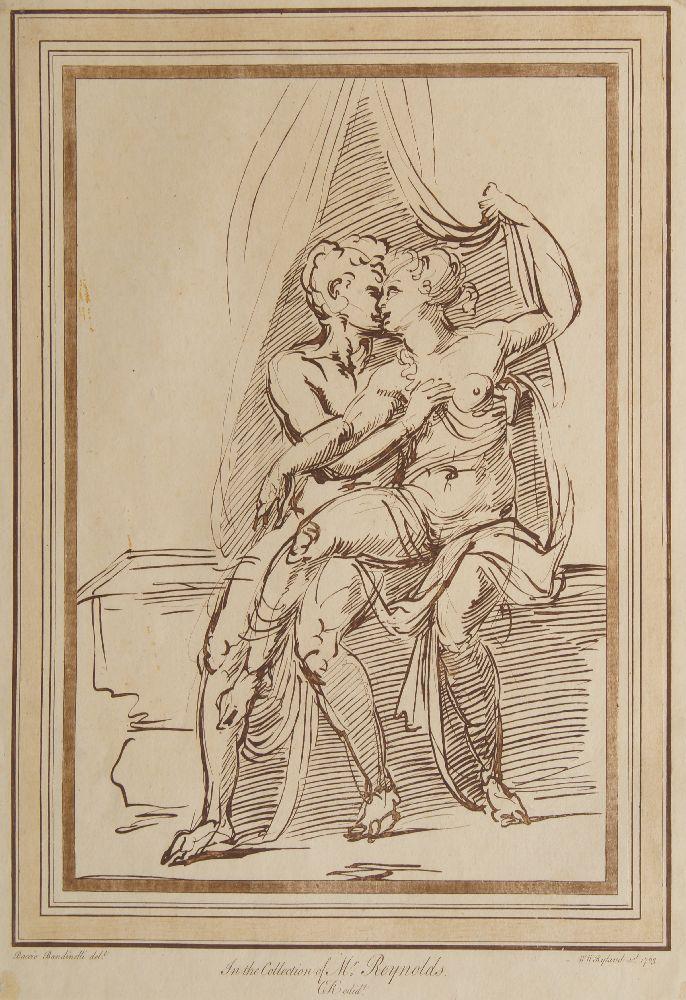 William Wynne Ryland, British 1738-1783- Jupiter and Juno, after Baccio Bandinelli; etching