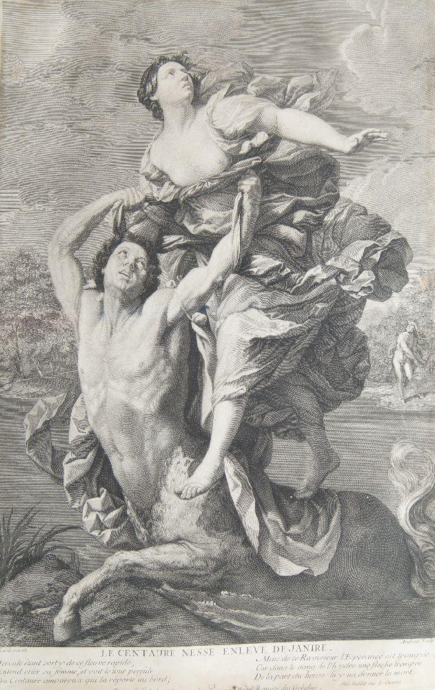 Benoît Audran Snr, French 1661-1721- Le Centaure Nesse Enleve de Janire, after Guido Reni;