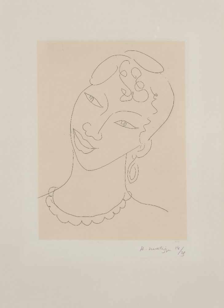 Henri Matisse, French 1869-1954- Martiniquaise [Duthuit 288], 1946; etching on Annam appliqué to