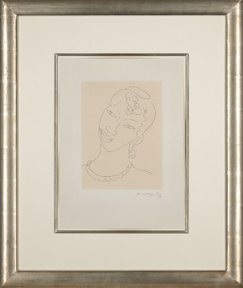 Henri Matisse, French 1869-1954- Martiniquaise [Duthuit 288], 1946; etching on Annam appliqué to - Image 2 of 2