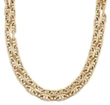 A long necklace, of faceted cable-link design, length 73cmPlease refer to department for condition