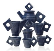 Robert Silver (British b.1955), a ceramic service, 21st century, impressed marks to bases, White