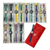 Swatch (Swiss), a collection of 14 cased watches c.1990, all boxed or cased A collection of 14 cased