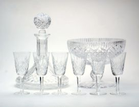 A group of Waterford crystal, comprising a set of six sherry glasses, marked to underside, 5.5cm