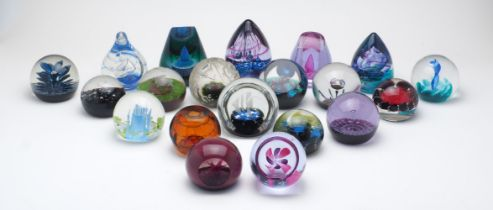 A collection of twenty Caithness Limited Edition glass paperweights, 1973-1999, comprising: Cased