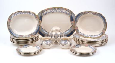 A Mason's Ironstone for Liberty of London part dinner service in the Ianthe pattern, late 20th