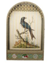 George Edwards, British 1694-1773- Two birds perched on branches; hand-coloured engravings, held
