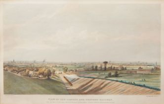 Edward Duncan RWS, British 1803-1882- View of the London and Croydon Railway, From the deep