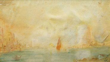 British School, 19th century- The Grand Canal, Venice; watercolour, 12.4 x 21.5 cm Please refer to