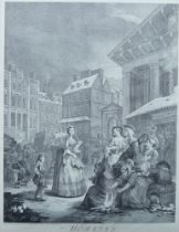 After William Hogarth FRSA, British 1697-1794- Four Times of Day; reproduction prints, ea. 48.5 x 40
