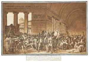 Luigi Ademollo, Italian 1764-1849- I Cartaginesi diseanno le loro suppellettili per rifabbricarsi le