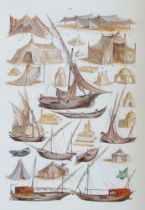 After Peter Herwegen, German 1814-1893- Travel Studies; eight lithographs in colours on wove, each