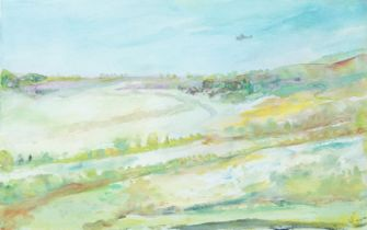 George Jerzy Bort, British/Polish 1917-2001- Summer landscape; watercolour, signed on the front,