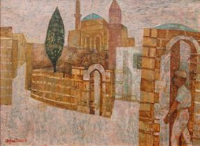 AMENDMENT: Please note that this is a view of Rhodes Alfred Daniels, British 1924-2015- Street