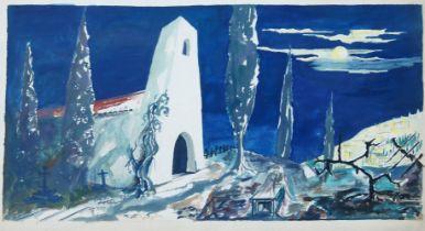 Brian Seaton, British, mid-20th century- Les caprices de Marianne, Acte II scene 2, Une Rue;