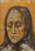 Ursula Vivian McCannell, British 1923-2015- Out of the Window (portrait of an elderly woman);