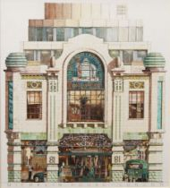 Andrew Ingamells, British b.1956- The Michelin Building; pencil and crayon, signed and dated 1992,