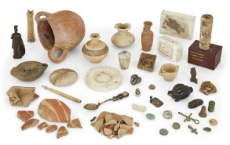 A group of Antiquities and objects after the antique including a Middle Bronze Age Cypriot pot circa