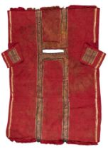 A composite Coptic linen and wool fragmentary tunic, circa 5th-7th century A.D., comprising two