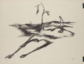 Sir Sidney Nolan OM AC CBE, Australian 1917-1992- Rinder Subject II, 1969; lithograph on Arches