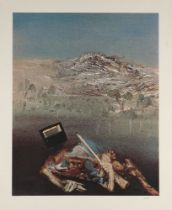 After Sir Sidney Nolan OM AC CBE, Australian 1917-1992- Policeman and Ned Kelly; screenprint in