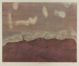 Sir Sidney Nolan OM AC CBE, Australian 1917-1992- Desert Landscape, 1982; screenprint in colours