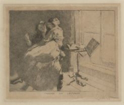 Walter Sickert RA RBA, British 1860-1942- Femme de Lettres, 1915; etching on laid, signed in pencil,