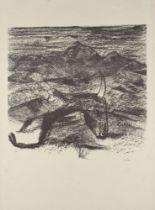 Sir Sidney Nolan OM AC CBE, Australian 1917-1992- Rinder Subject V, 1969; lithograph on Arches wove,