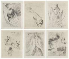 Salvador Dalí, Spanish 1904-1989- La Venus aux Fourrures [Field 68-6], 1969-70; six engravings on