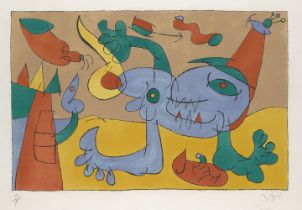 Joan Miró, Spanish 1893-1983- The Massacre of the King of Poland III [Mourlot 406], 1966; lithograph