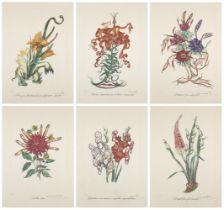 Salvador Dalí, Spanish 1904-1989- Florals (Surrealist Flowers) [Field 72-7], 1970; six lithographs