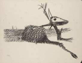 Sir Sidney Nolan OM AC CBE, Australian 1917-1992- Rinder Subject III, 1969; lithograph on Arches