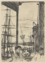 James Abbott McNeill Whistler, American 1834-1903- Rotherhithe (Wapping), 1860; etching on wove,