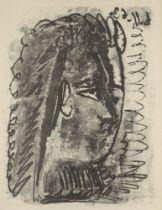 Pablo Picasso, Spanish 1881-1973- Profil de femme regardant à droite [Mourlot 391], 1963; lithograph