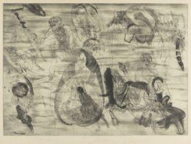 Jiri Anderle, Czechoslovakian b.1936- Komedie no 1., 1967; drypoint etching on wove, signed,