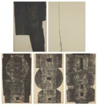 James Guitet, French 1925-2010- Untitled, 1961; etching with carborundum on wove, signed, dated
