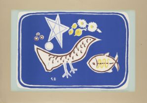 Georges Braque, French 1882-1963- The Bird, 1949; lithographs in colours on wove, signed in the