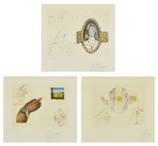 Salvador Dalí, Spanish 1904-1989- The Cycles of Life [Field 79-1], 1977; the complete suite of three