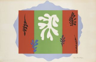 Henri Matisse, French 1869-1954- The Dancer, 1949; lithograph in colours on wove, signed in the