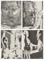 Pablo Picasso, Spanish 1881-1973- Sable Mouvant: Tête d'Homme barbu, Sculpteur et Sculpture,