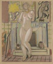 After Henri Matisse, French 1869-1954- Nu devant la cheminée, c.1950; lithograph in colours on wove,