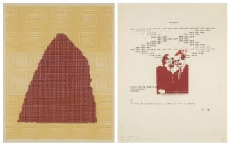 Henri Chopin, French 1922-2008- Untitled, 1990; screenprint in colours on wove, unsigned from the