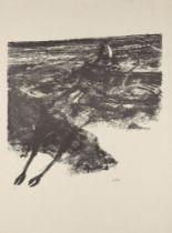 Sir Sidney Nolan OM AC CBE, Australian 1917-1992- Rinder Subject IV, 1969; lithograph on Arches