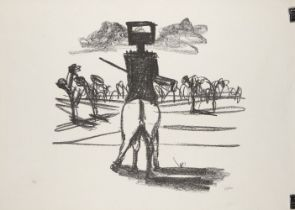 Sir Sidney Nolan OM AC CBE, Australian 1917-1992- Ned Kelly; lithograph on wove, signed and