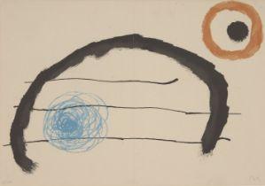 Joan Miró, Spanish 1893-1983- Obra Inedita Recent, 1964; lithograph in colours on Guarro wove,