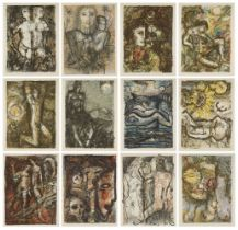 Keith Michell, Australian 1926-2015- The Shakespeare Sonnets, 1976; the complete suite of twelve
