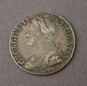 A George II 1743 shilling