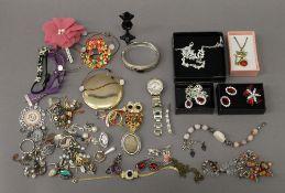 A quantity of costume jewellery, etc.